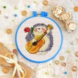 Cross stitch kit «T-0035 Guitar Strumming Hedgehog»