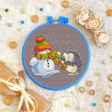 Cross stitch kit «T-0045 The Snowman &The Hedgehog»