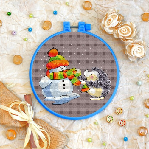 Cross stitch kit «T-0045 The Snowman &The Hedgehog»