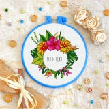 Cross stitch kit «T-0075 Write Your Text Here»