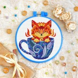 Cross stitch kit «T-0148 Kitty in a Cup»