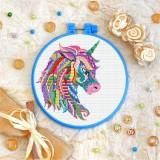 Cross stitch kit «T-0211 Mandala Unicorn»