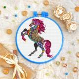 Cross stitch kit «T-0223 Mandala Mustang»