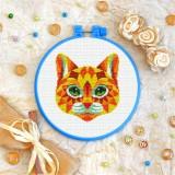 Cross stitch kit «T-0250 Mandala Sunny Cat»