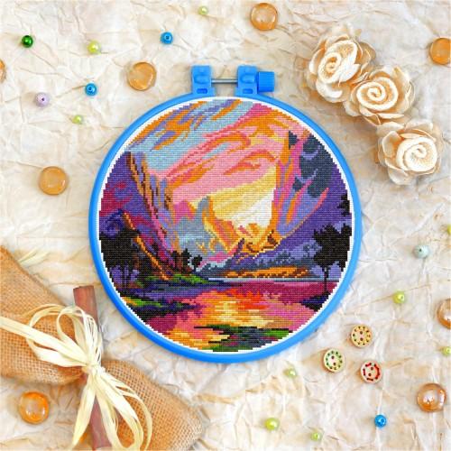 Cross stitch kit «T-0256 Mountain Landscape»