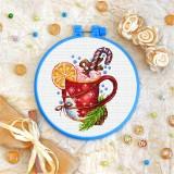 Cross stitch kit «T-0267 Christmas Coffee»