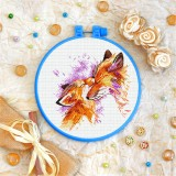 Cross stitch kit «T-0305 Mother and Child Foxes»