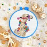 Cross stitch kit «T-0340 Bedecked Llama»