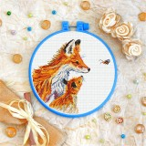 Cross stitch kit «T-0345 Chanterelles and Bee»