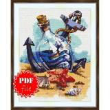 Cross stitch pattern «pdf-S-0010 Sailboat in the Bottle»