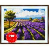 Cross stitch pattern «pdf-S-0020 Lavender Field»