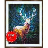 Cross stitch pattern «pdf-S-0041 Deer»