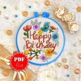Cross stitch pattern «pdf-T-0010 Happy Birthday 1»