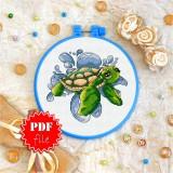 Cross stitch pattern «pdf-T-0020 Baby Turtle»