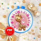 Cross stitch pattern «pdf-T-0030 Toy Giraffe»
