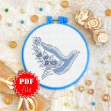 Cross stitch pattern «pdf-T-0080 Dove of Peace»