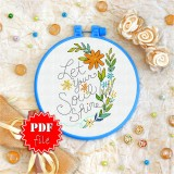 Cross stitch pattern «pdf-T-0090 Let Your Soul Shine»
