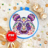 Cross stitch pattern «pdf-T-0160 Mandala Panda»