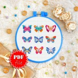 Cross stitch pattern «pdf-T-0245 Butterflies»