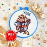 Cross stitch pattern «pdf-T-0280 Xmas Chocolate»