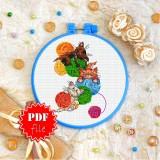 Cross stitch pattern «pdf-T-0291 Playful Kittens»