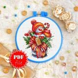 Cross stitch pattern «pdf-T-0303 Snowman»