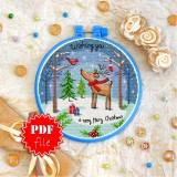 Cross stitch pattern «pdf-T-0317 Mary Christmas»