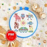 Cross stitch pattern «pdf-T-0351 Mayan Signs»