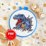 Cross stitch pattern «pdf-T-0357 Tyrannosaur»