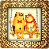 Magnet bead embroidery kit «M-0018 Cats on A Swing»