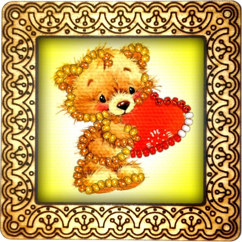 Magnet bead embroidery kit «M-0058 Be My Valentine»