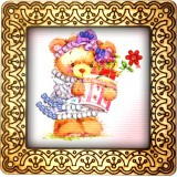 Magnet bead embroidery kit «M-0068 Bearing Flowers»