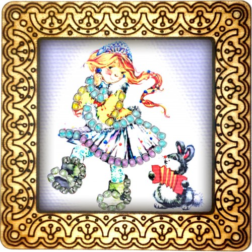 Magnet bead embroidery kit «M-0098 Maiden Dancing»