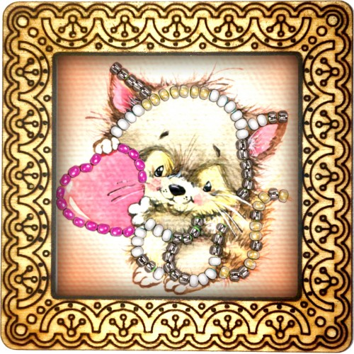 Magnet bead embroidery kit «M-0108 Baby Raccoon»