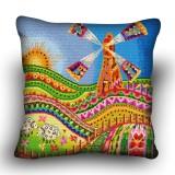 Pillow cross stitch kit «H-0025 Welsh Windmill»