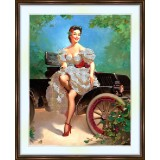 Bead embroidery kit «A-0010 The Model T and Me»