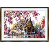 Bead embroidery kit «A-0030 Thiland Temple»