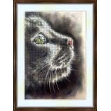 Bead embroidery kit «A-0051 Sad Kitty»