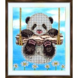 Bead embroidery kit «A-0061 Baby Panda»