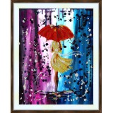 Bead embroidery kit «A-0071 Strolling in the Rain»