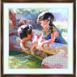 Bead embroidery kit «A-0121 Girl Talk»