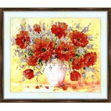 Bead embroidery kit «A-0131 Red Poppies»