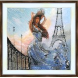 Bead embroidery kit «A-0141 French Girl at the Tower»
