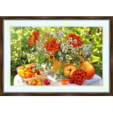 Bead embroidery kit «A-0181 Fruit 'n Wildflowers Still Life»