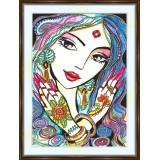 Bead embroidery kit «A-0201 Nicole»