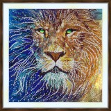 Bead embroidery kit «A-0292 Regal Lion»