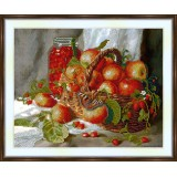 Bead embroidery kit «A-0302 Basket of Apples»