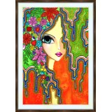 Bead embroidery kit «A-0332 Rainbows in Her Hair»