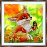 Bead embroidery kit «A-0352 Fox 'n the Butterfly»