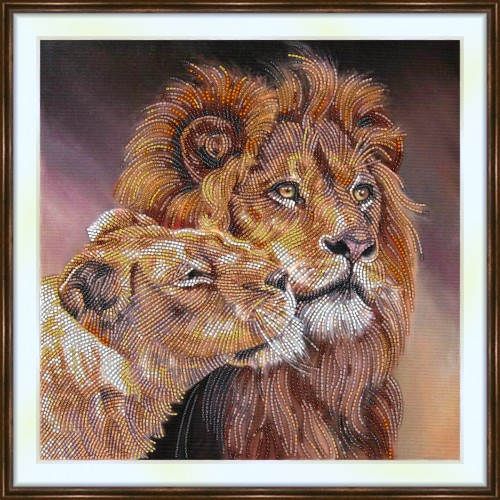 Bead embroidery kit «A-0362 Lion King and Queen»